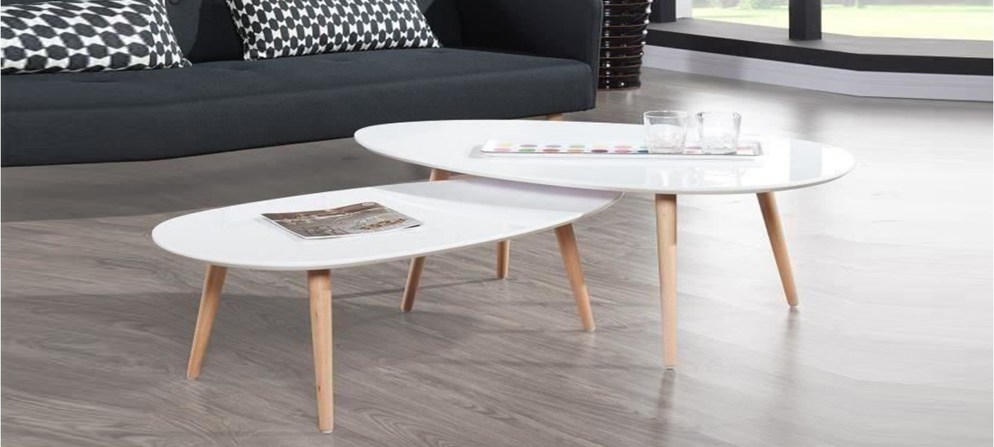 Table Basse Scandinave Blanche Table Basse Scandinave Blanche Pristina