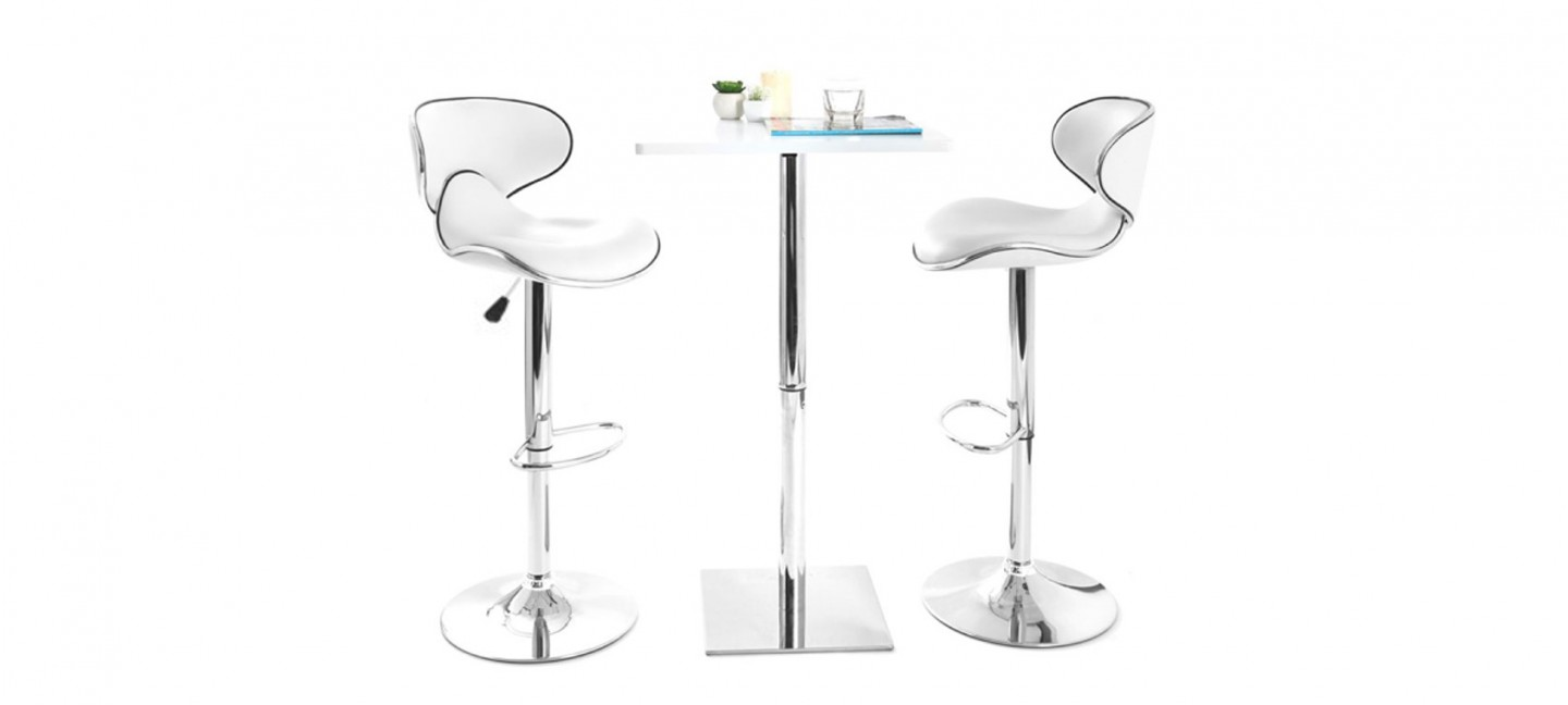 Lot De 2 Tabourets De Bar Blanc Tabouret Bar Blancs Par Lot Affaire à Faire