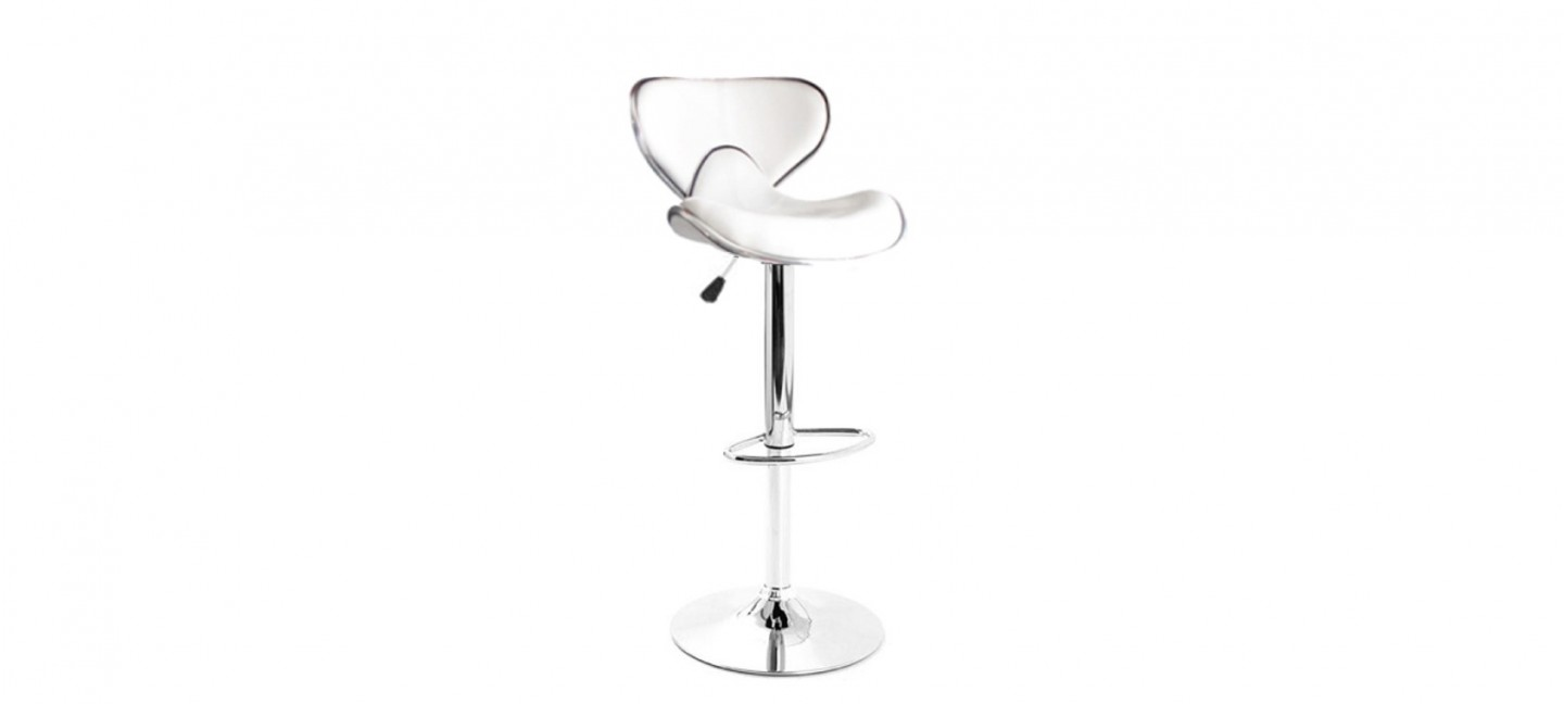 Lot De 2 Tabourets De Bar Wave à Mémoire De Forme Tabouret De Bar Blanc