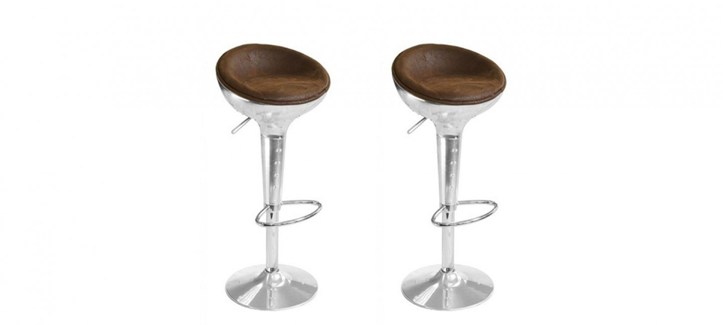 Tabourets Bar Lot De 2 Tabourets De Bar Design Vintage Aviator