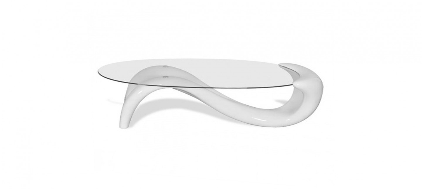 Canapé Lit Rouge Table Basse Design Ronde Blanche - Wave