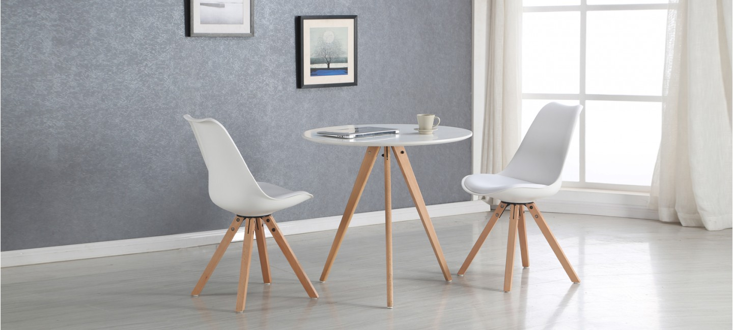 Table Manger Scandinave Table à Manger Scandinave Blanche 80cm Oslo