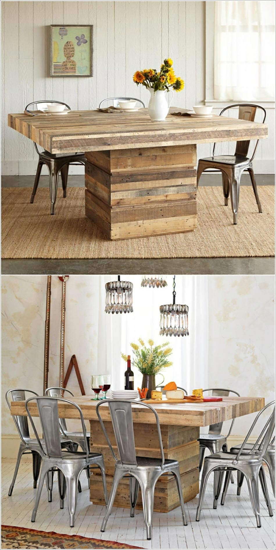 Diy Table A Manger Diy Table A Manger Do It Yourself Bricolage Bouteille De Lampe