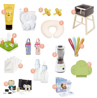 mealtime essentials for your baby registry