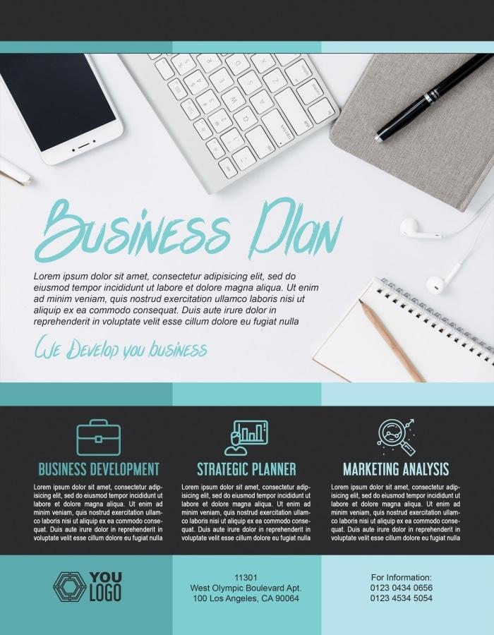 Free Business Flyer PSD Mockup Download - DesignHooks