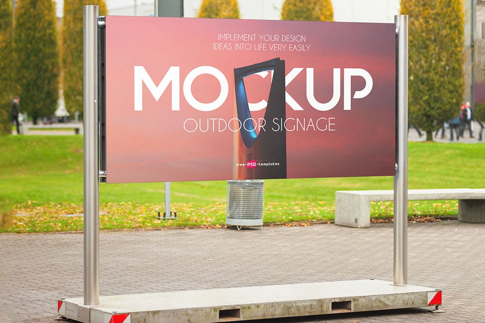 Mockup Iphone And Ipad Free Download High-resolution Roadside Outdoor Advertising