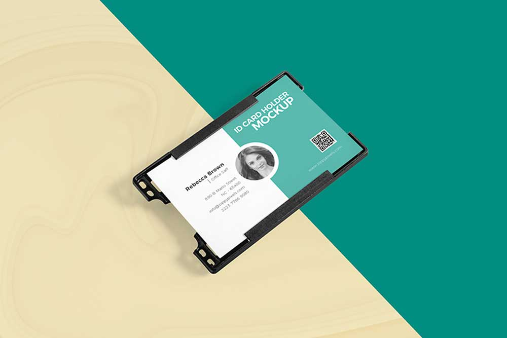 Download This Free ID Card Holder Mockup In PSD - Designhooks - card