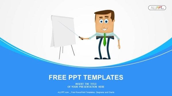 Free Cartoon Business Presentation Powerpoint Template - DesignHooks