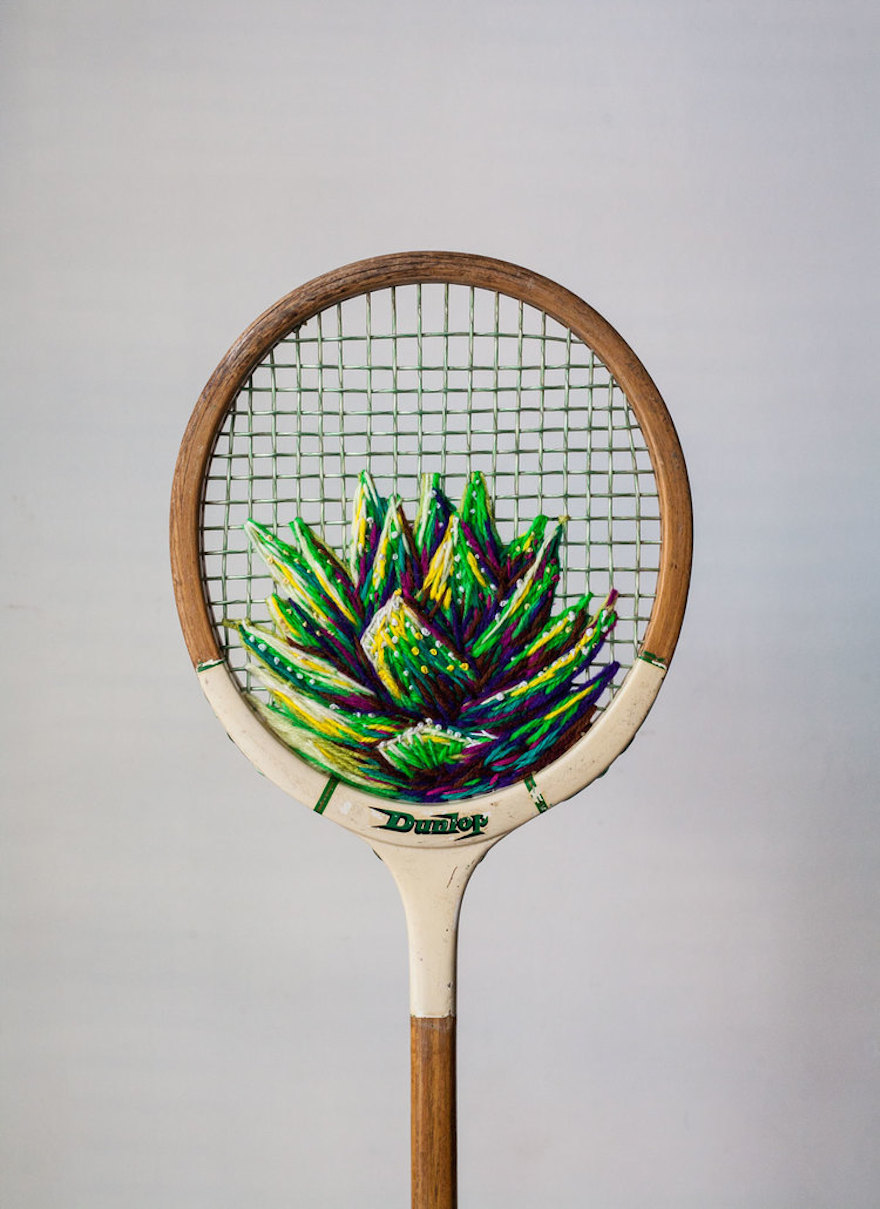 Design Art Old Tennis Rackets Become Colourful Works Of Art | Design