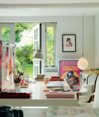 Inspiring home office work spaces w/inspiration boards ...