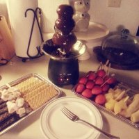 Had a date night in Friday with a Chocolate fountain...