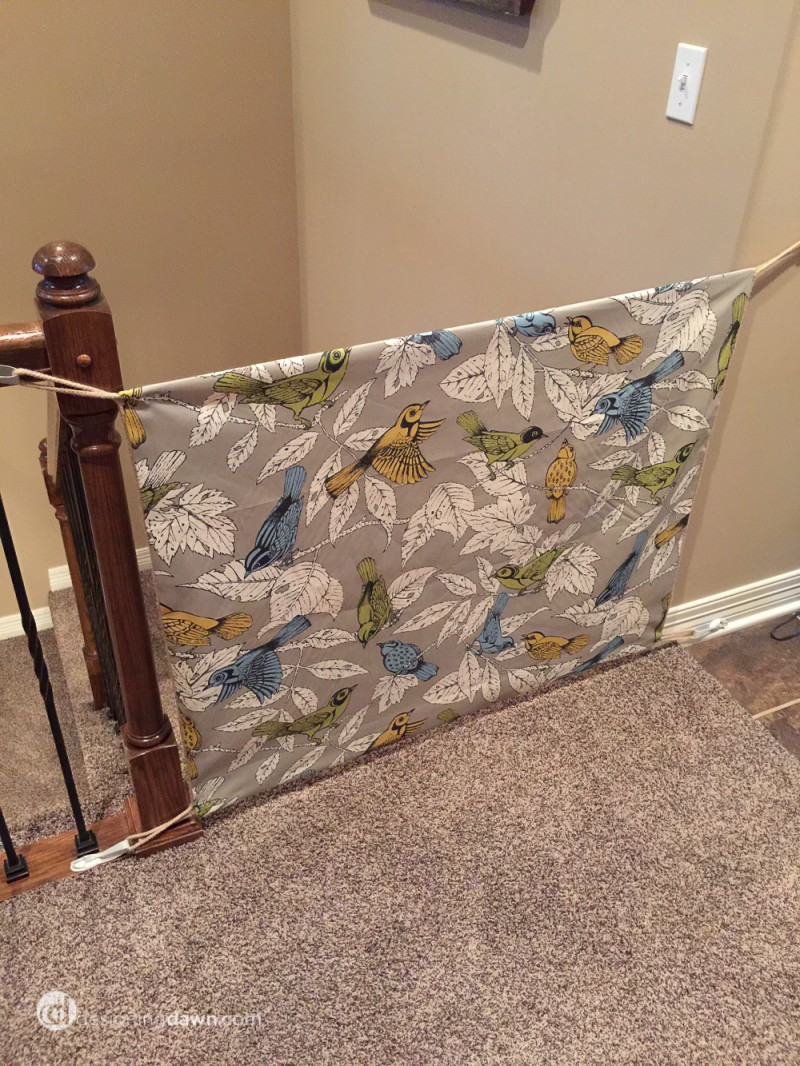 Twin Tuesday: DIY Fabric Gate