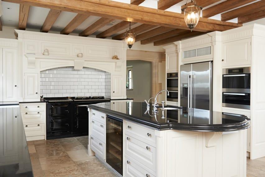 beautiful shaped kitchen exposed beams designing idea designing kitchen kitchen decor design ideas