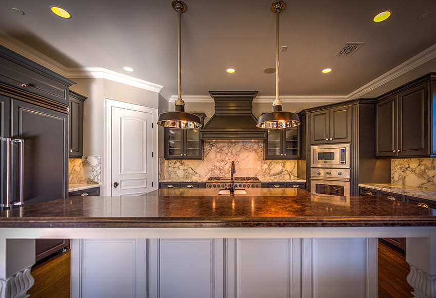 Light Grey Kitchen Walls With Dark Brown Cabinets 50 High-end Dark Wood Kitchens (photos) - Designing Idea