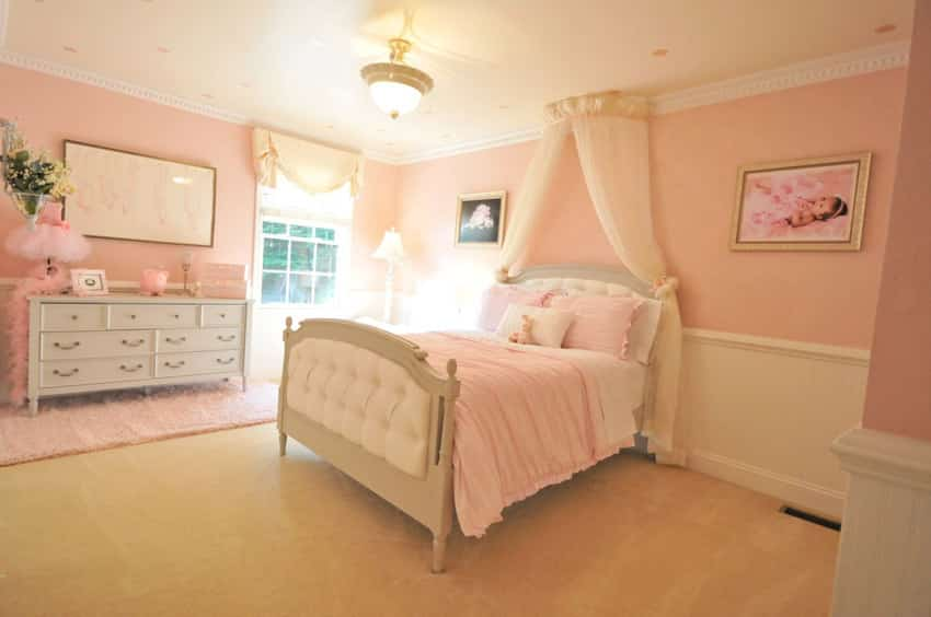 Pale Pink Wallpaper For Girl Nursery 36 Cute Bedroom Ideas For Girls Pictures Of Furniture