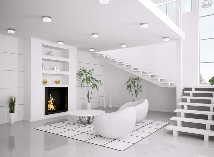 60 Stunning Modern Living Room Ideas (Photos) - Designing Idea - all white living room