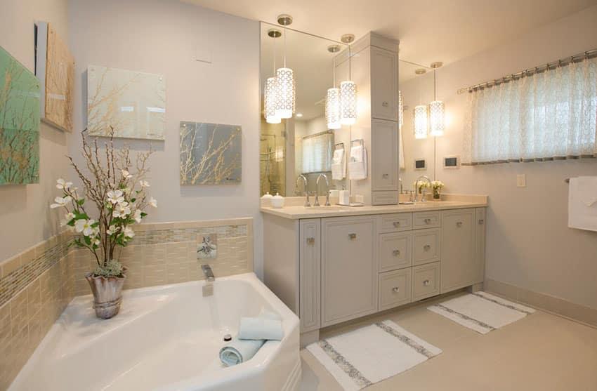 15 Bathroom Pendant Lighting Design Ideas Designing Idea