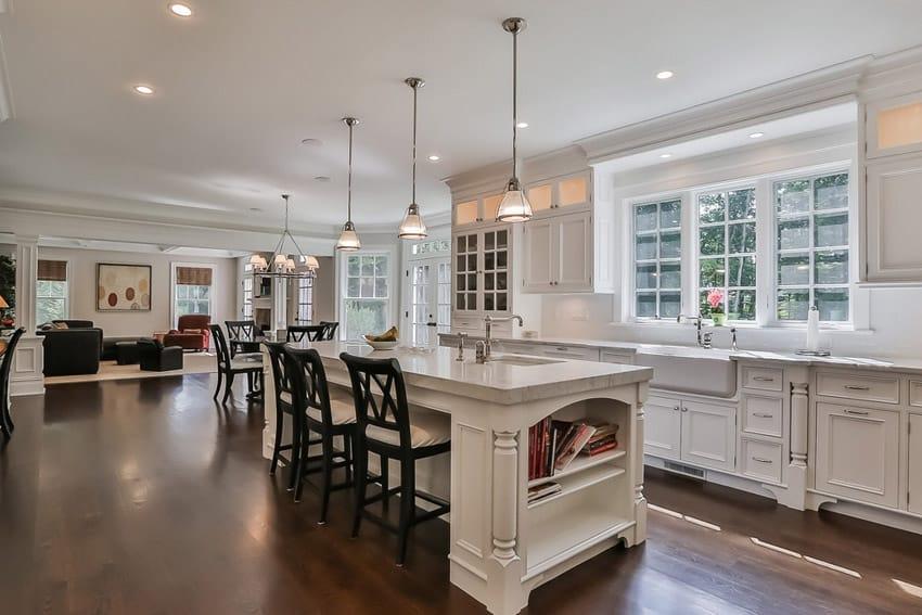 dark floors open kitchen living room designs house design ideas functional ideas kitchen living room design