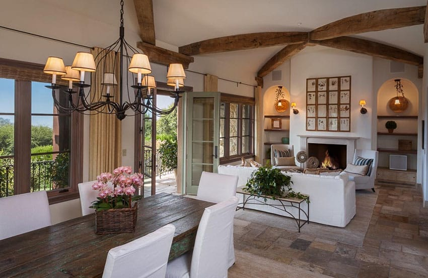 Luxury Tuscan Style Home Design - Designing Idea - tuscan style living room