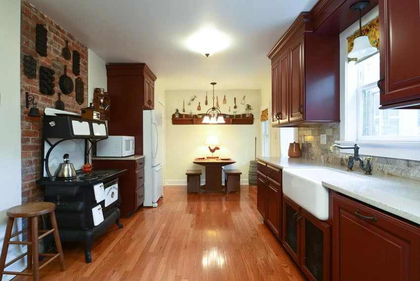 brick kitchen design ideas tile backsplash accent walls rustic kitchen backsplash tile