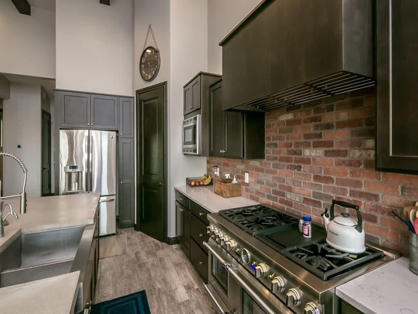 brick kitchen design ideas tile backsplash accent walls awesome kitchen backsplash ideas decoholic