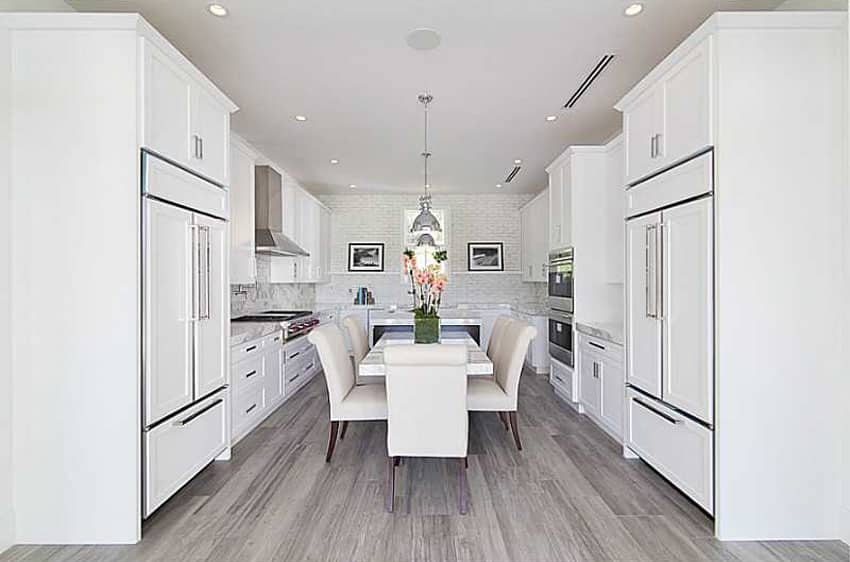 Movable Kitchen Island With Stools 45 Luxurious Kitchens With White Cabinets (ultimate Guide