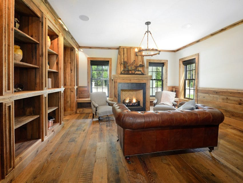 39 Beautiful Living Rooms with Hardwood Floors