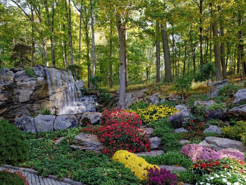 Rustic Fall Wallpaper 53 Backyard Garden Waterfalls Pictures Of Designs