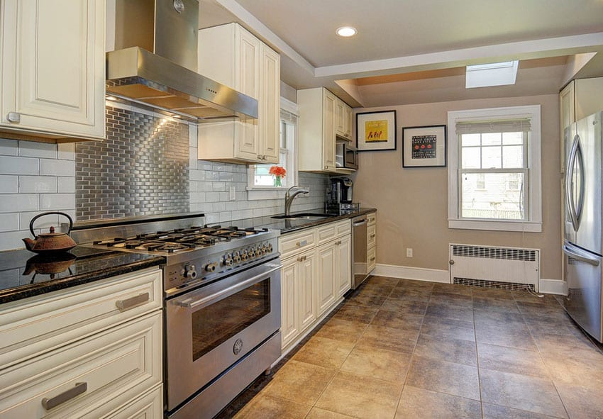 kitchen subway tile backsplash stainless steel backsplash stainless steel subway tile kitchen backsplash painted shaker