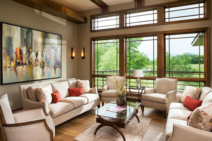 30 Craftsman Living Rooms (Beautiful Interior Designs) - Designing - craftsman living room