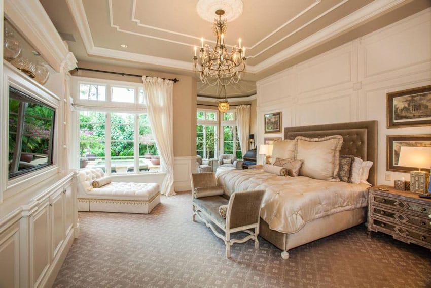 53 Elegant Luxury Bedrooms (Interior Designs) - Designing Idea - elegant bedroom ideas