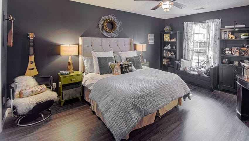 Bedroom Flooring Choices 27 Jaw Dropping Black Bedrooms (design Ideas) - Designing Idea