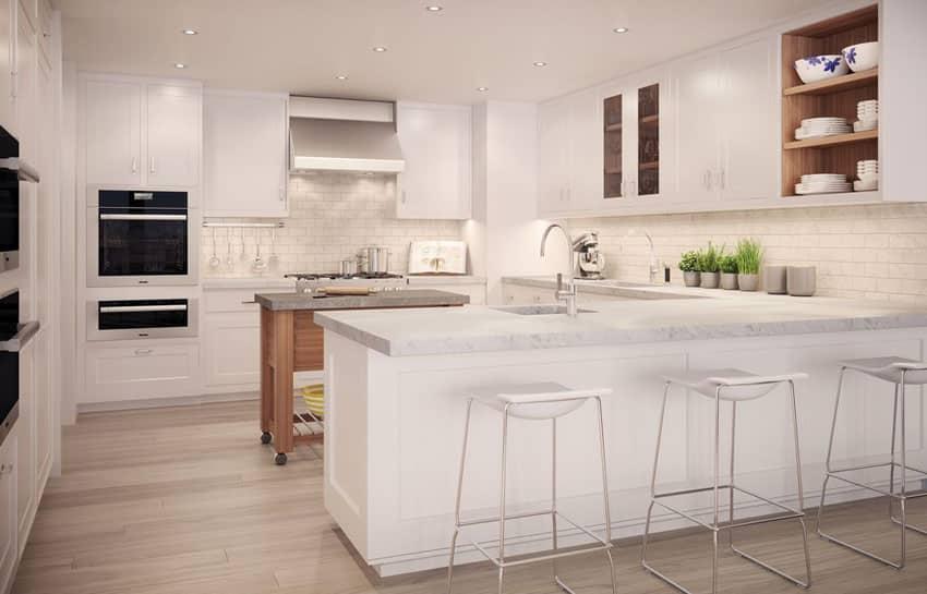 33 Gorgeous Kitchen Peninsula Ideas (Pictures)