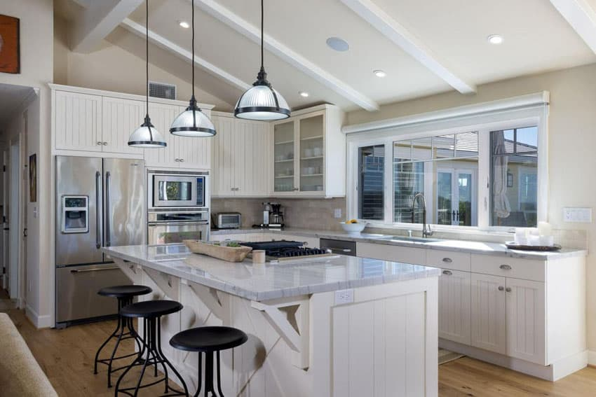 Average Size Kitchen Island 37 L-shaped Kitchen Designs & Layouts (pictures