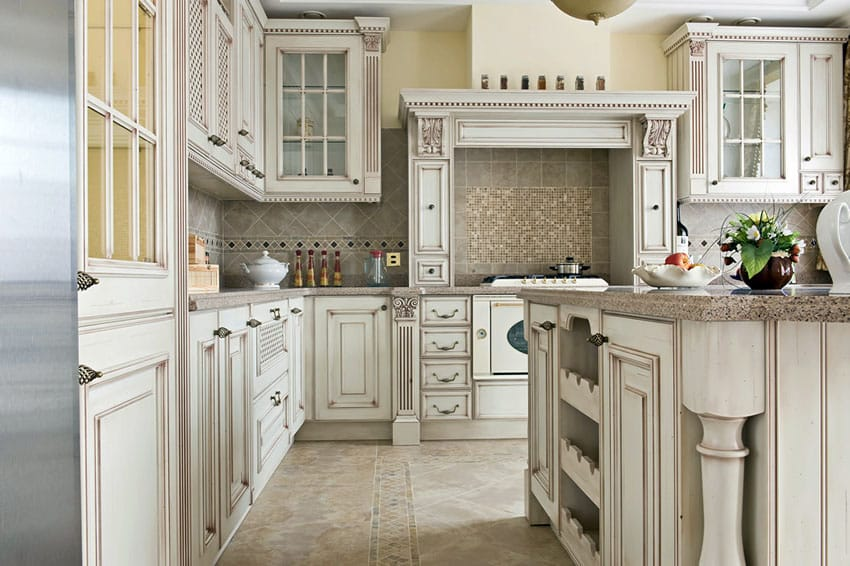 Antique White Cabinets 27 Antique White Kitchen Cabinets (design Photos