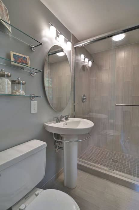 Wood Framed Bathroom Vanity Mirrors Small Bathroom Ideas (vanity, Storage & Layout Designs