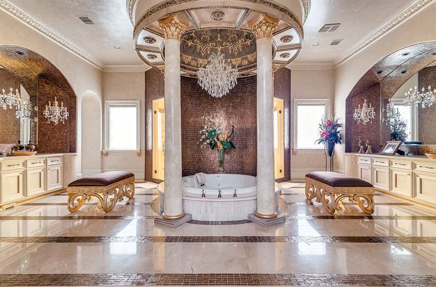 Bathrooms these pictures show elegant master bathrooms with full of