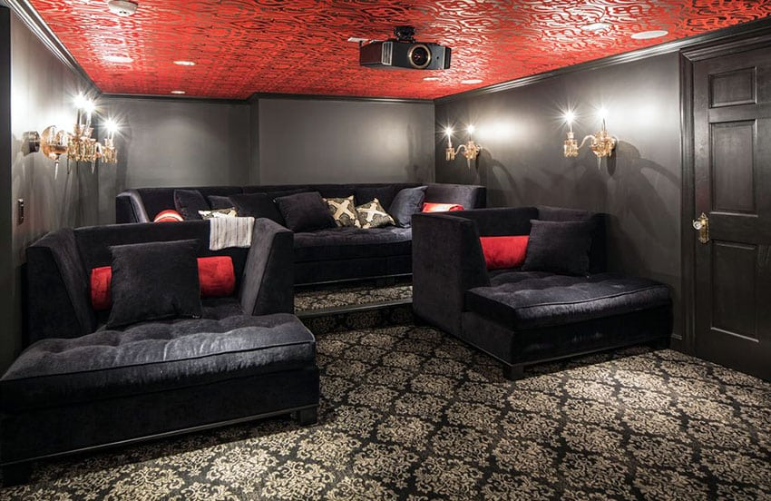 47 Cool Finished Basement Ideas Design Pictures