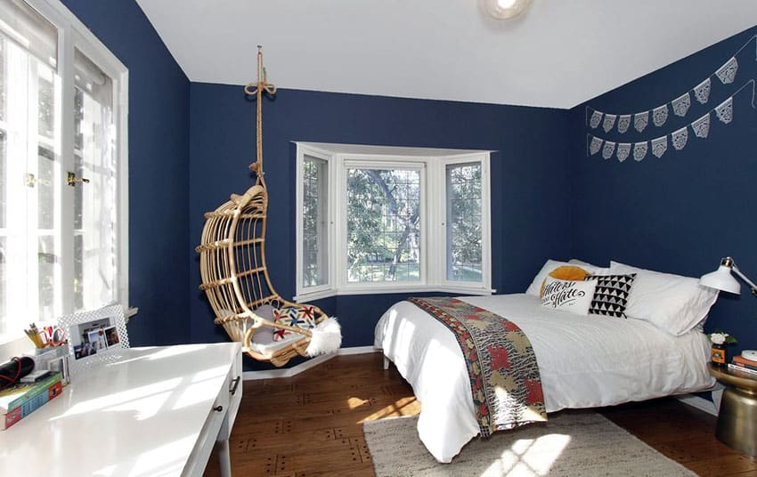 29 Beautiful Blue And White Bedroom Ideas Pictures