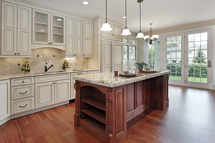 White Shaker Doors For Kitchen Cabinets With Oak Trim Country Kitchen Cabinets (ideas & Style Guide) - Designing