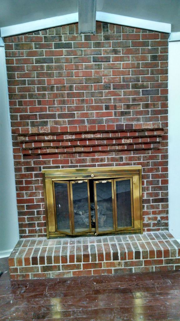 Whitewash Brick Fireplace Brick Fireplace Makeover Diy - Whitewashing Brick