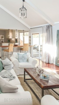 Light, Bright, & Airy Living Room Tour {Designing Vibes ...