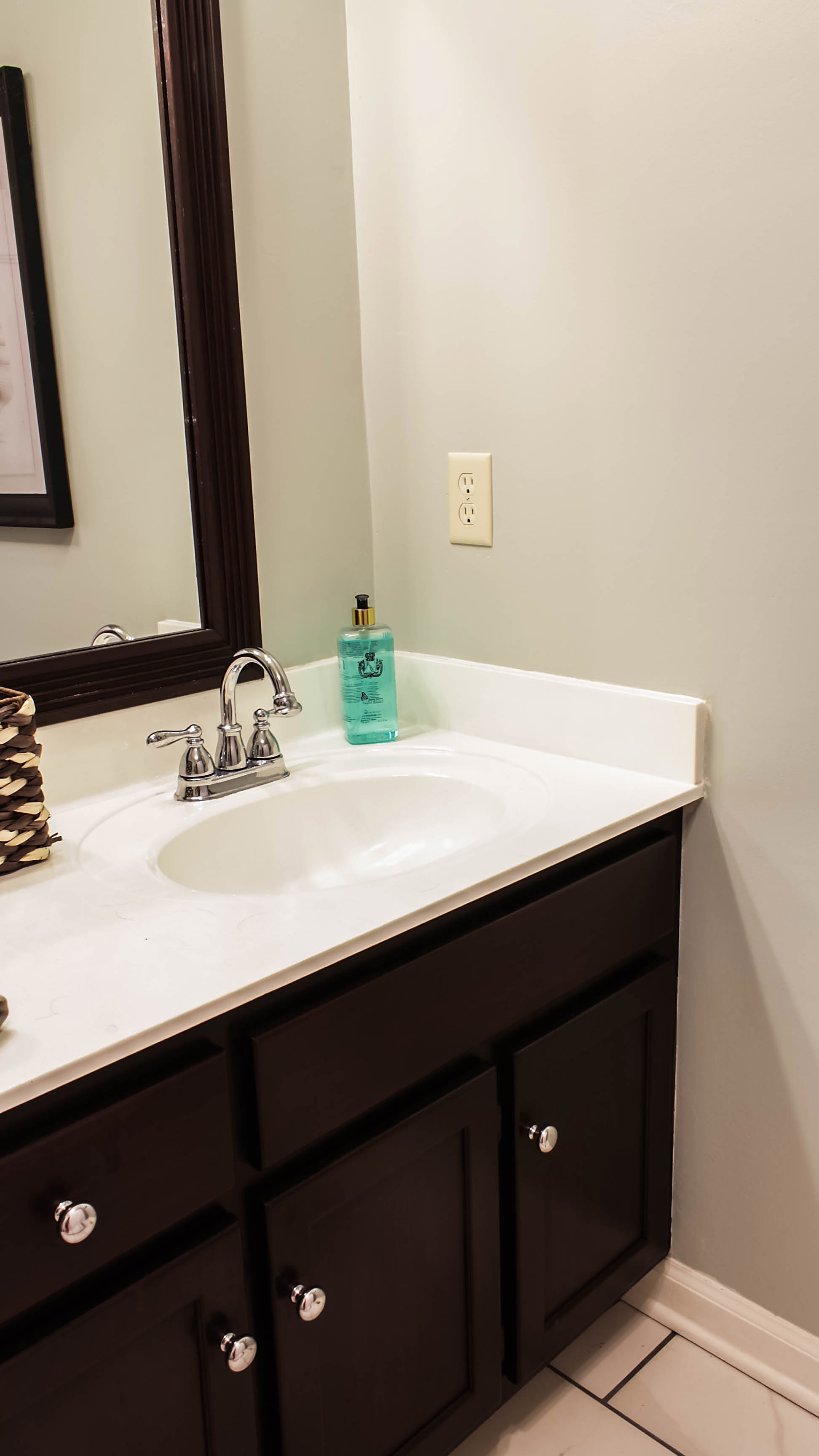 How To Remove Stains From Bathroom Countertops Transforming Bathroom Vanity With Gel Stain Java Gel Stain