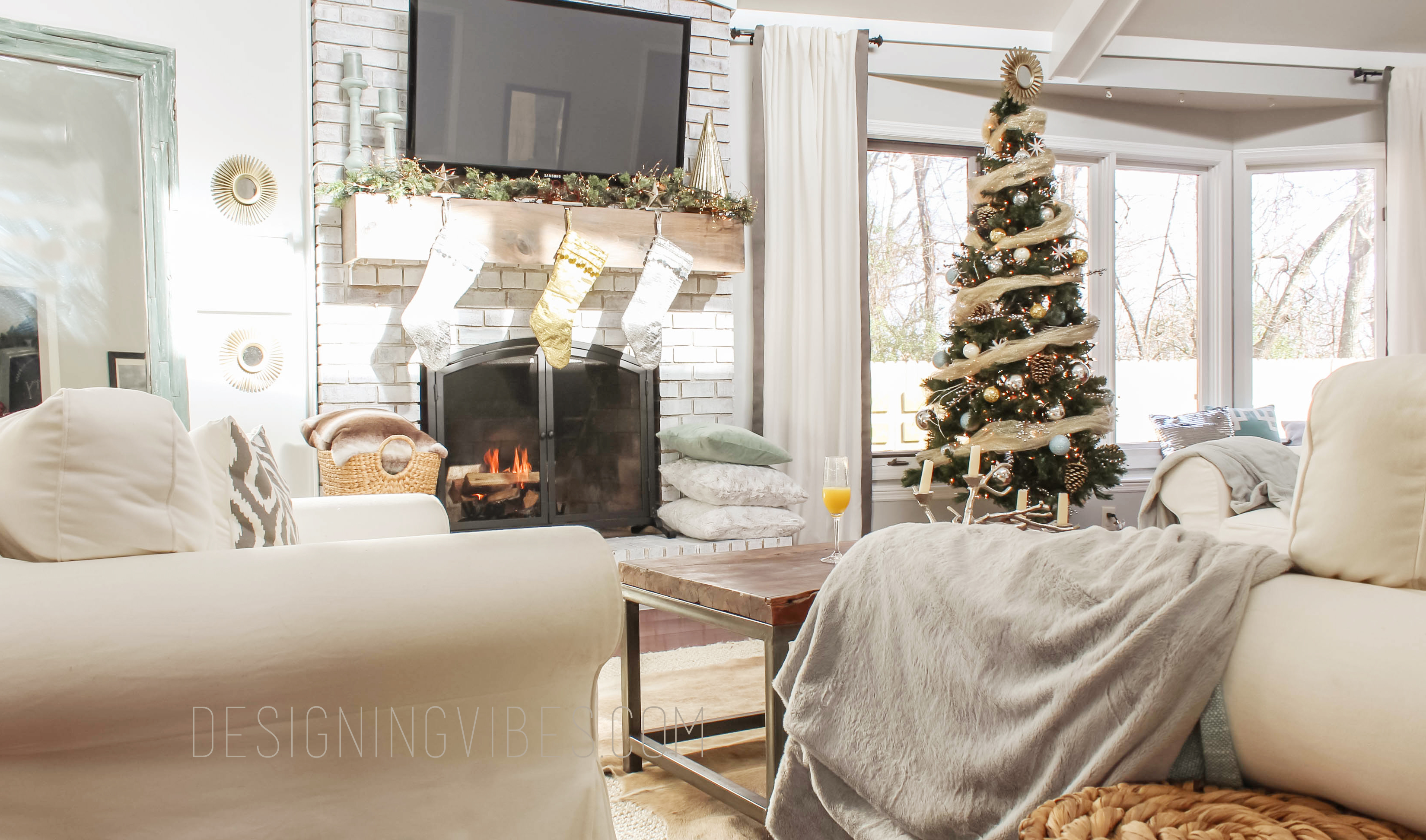 My Rustic Glam Christmas Tree Home Style Blog Hop