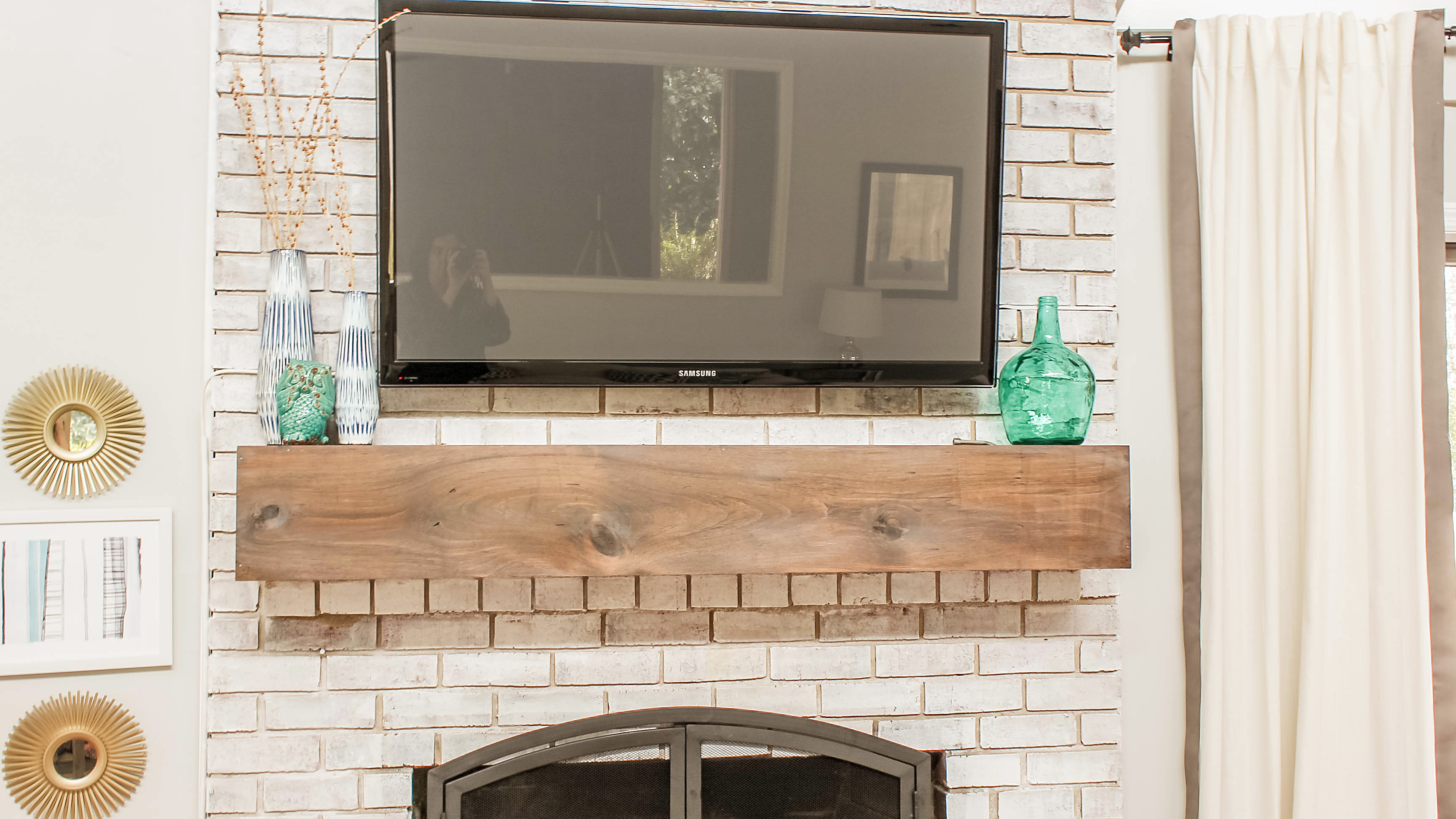 Fireplace Tv Mount How To Mount A Tv Over A Brick Fireplace And Hide The Wires