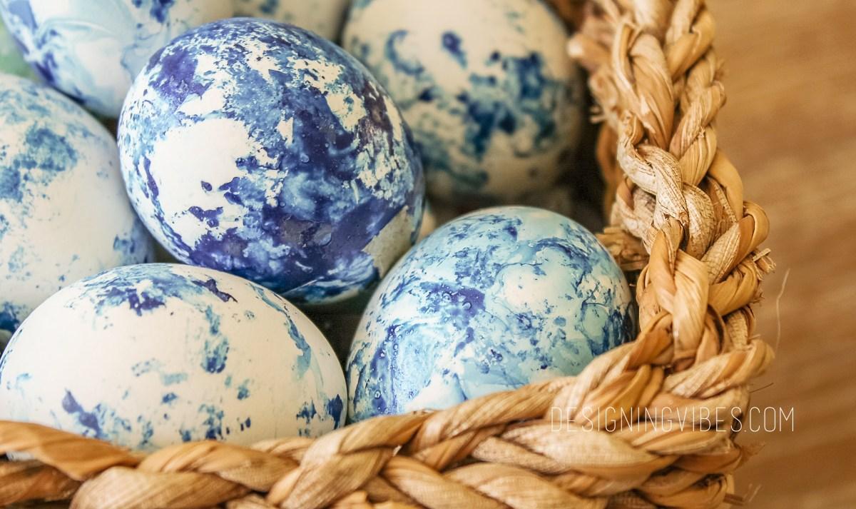 diy indigo easter eggs