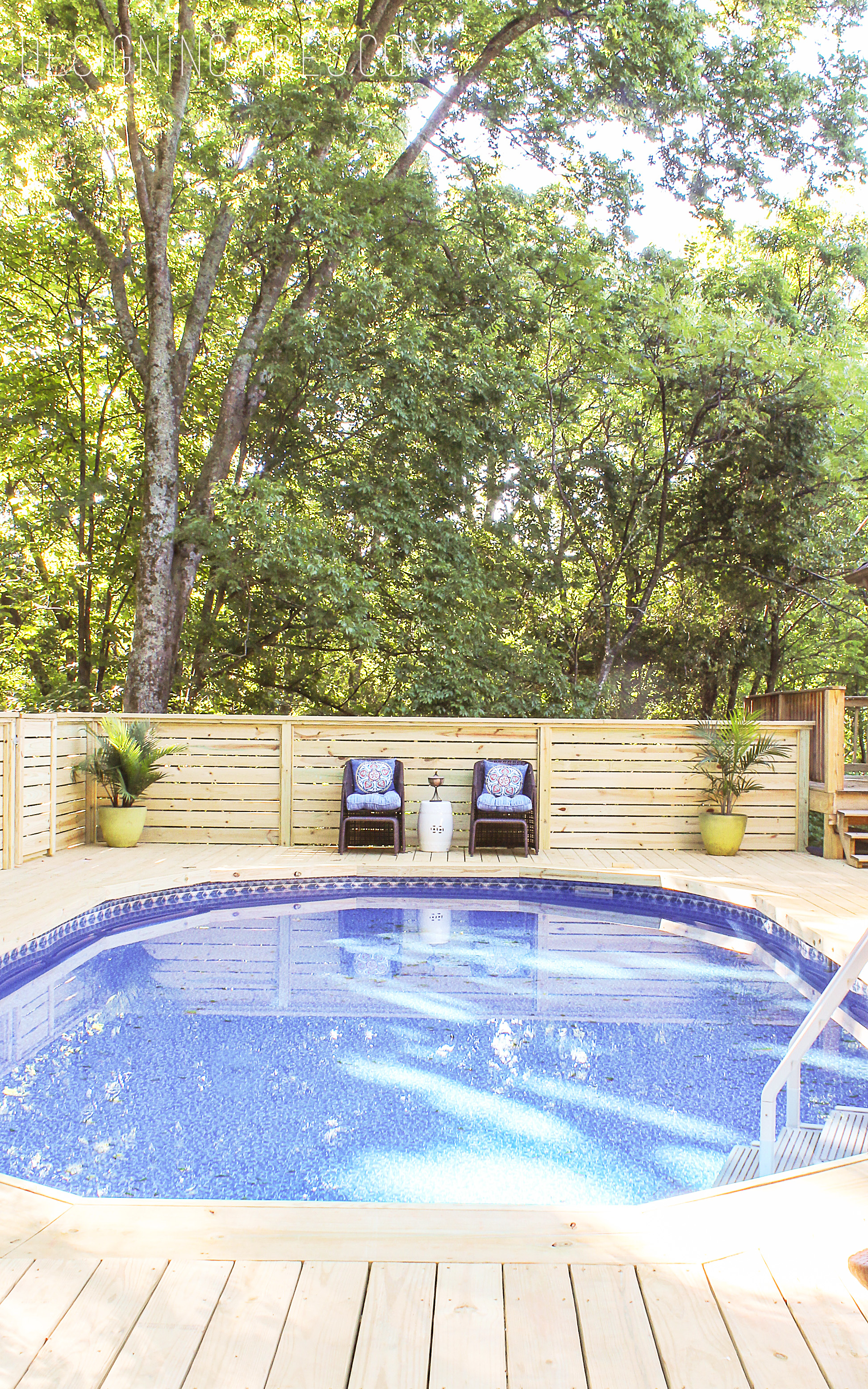 Jacuzzi Pool In Ground How To Make An Above Ground Pool Look Inground Pool Deck Ideas
