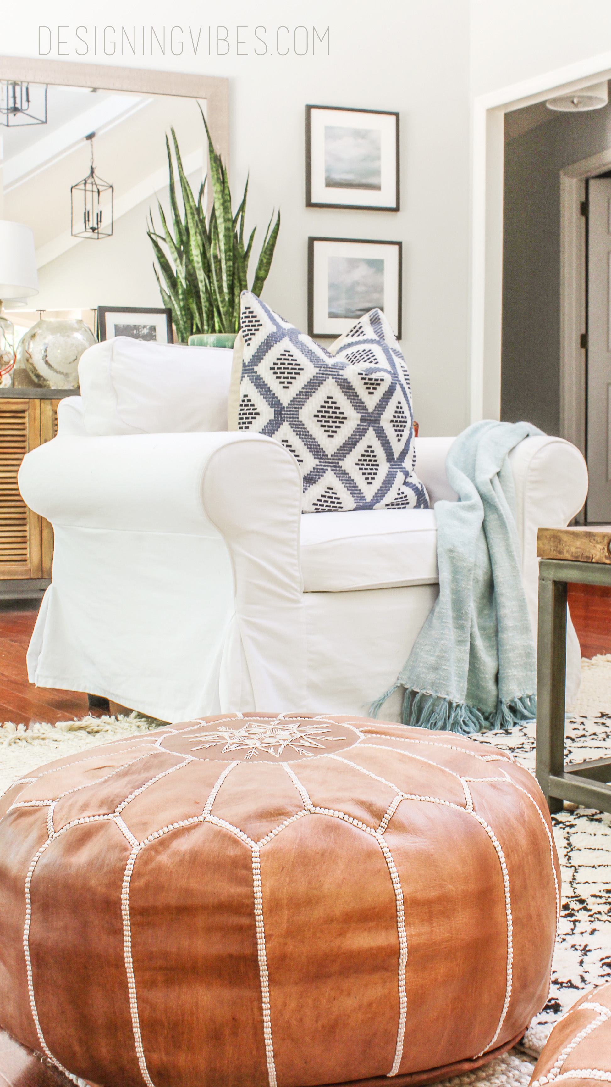 Boho Look How To Buy Leather Moroccan Poufs On The Cheap- Boho