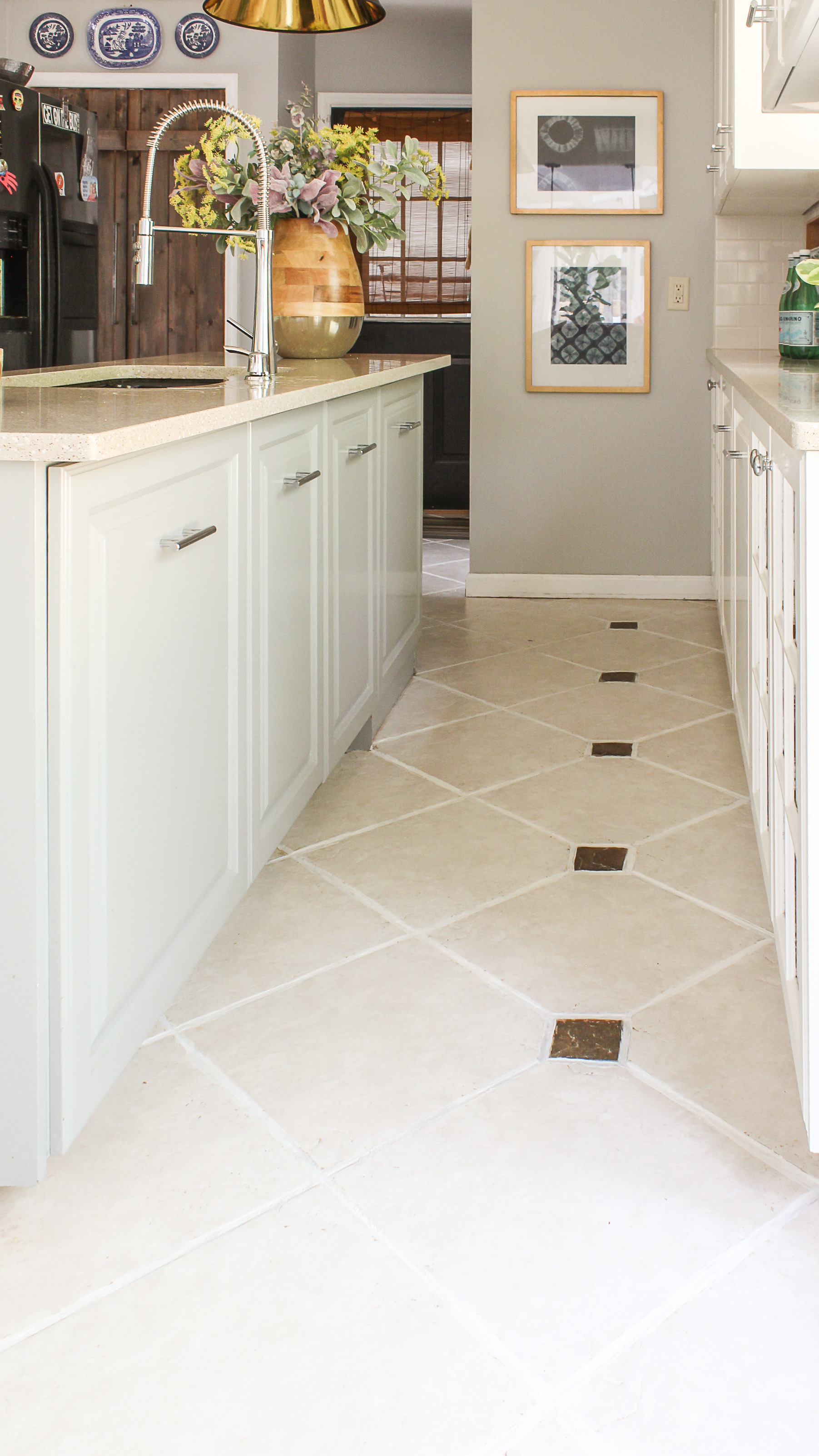 Kitchen Floor Tiles Pictures The Easiest Way To Clean Filthy Neglected Tile Flooring