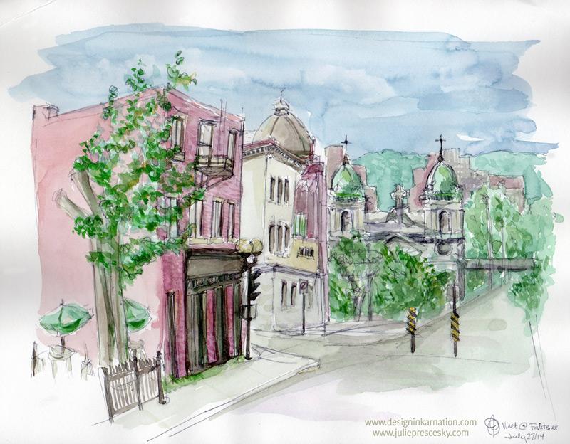 Urban Sketch - Vinet at Notre Dame